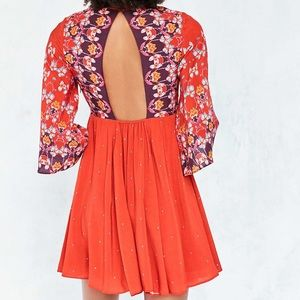 Urban Outfitters Bell Sleeve Mini Dress